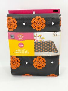 """Dia De Muertos Marigold Tablecloth 60x84"""" Padded Oblong 2021 Day Of The Dead New"""