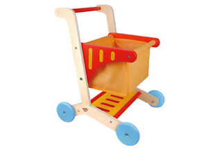 Wooden Shopping Cart Trolley | Tooky Toy | Pretend Play | 3 years+ | Very Sturdy