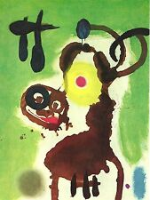 """JOAN MIRO, WOMAN AND BIRD,1962 OFFSET LITHOGRAPH PRINT UNSIGNED, 6,5X9"""""""