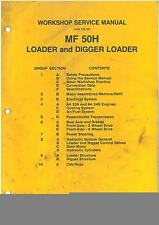 MASSEY FERGUSON MF50H DIGGER WORKSHOP MANUAL - MF 50H 50 H