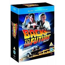 Back To The Future Trilogy (Blu-ray, 2013, 3-Disc Set, Box Set) Ultraviolet
