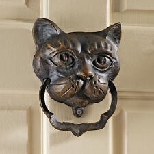 Victorian Black Cat Iron Door Knocker Halloween Door Decor