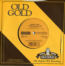 """Johnny Cash NM U.K. Old Gold 45rpm """"A Thing Called Love"""" / """"One Piece at a Time"""""""