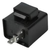 12V Black Turn Signal 2 Pin Relay Flasher For LED Indicator Light Motorcycle