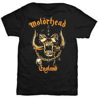 Official MOTORHEAD England Mustard Pig T-shirt Black Sizes S to XXL Lemmy