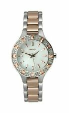 e68c5734a91 DKNY Glitzy Two-Tone Stainless Steel Women s Watch NY8812