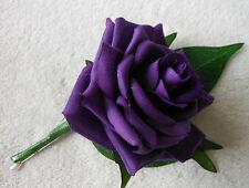 Purple Rose Buttonhole
