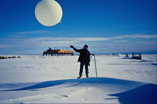 697071 Launching A Weather Balloon Antarctica A4 Photo Print