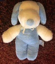 1968 United Feature Syndicate Blue and White Snoopy Plush