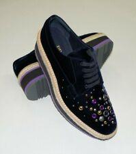 PRADA Purple Velvet Micro Creeper Sneakers Shoes