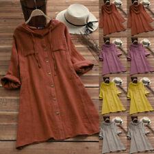 Grey Button-Down Long Sleeve Tops & Shirts for Women