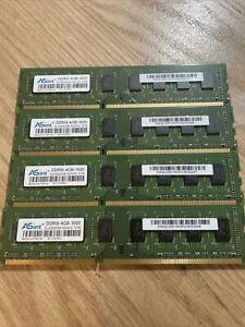 Lot of 4  ASint 4GB-1600 DDR3  SLA302G08-GGNHC 1216 Desktop Memory