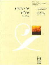 Prairie Fire Late Intermediate / Early Advanced Piano Duet 4 Hands David Karp