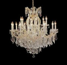 16 LIGHT MARIA THERESA CRYSTAL CHANDELIERS LIVING OR DINING ROOM FOYER KITCHEN