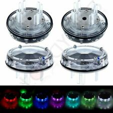4x Universal Car Auto Wheel Center hub Light Solor Power Energy LED Flash Lamp