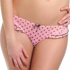 Polyester Spotted Briefs Low Rise Thongs for Women