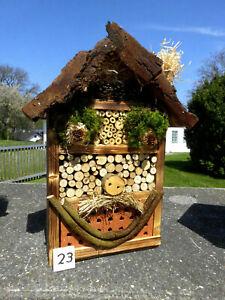 Insektenhotel für Wildbienen /  Insekten und 1x Blumenwiese geschenkt  (23)