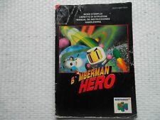 Notice Nintendo 64 / N64 Mode d'emploi Bomberman hero manual booklet *