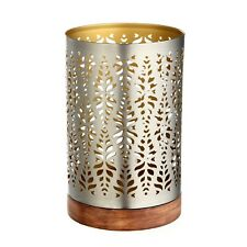 Better Homes & Gardens Metal Wood Hurricane Candle Holder Sleeve FREE SHIPPING