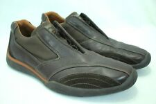 ZEGNA SPORT ITALY LEATHER DRIVING SNEAKERS BROWN LEATHER HIDDEN LACES 11D EUC!
