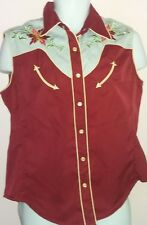 Scully Colourful Men's Vintage Waistcoat Size Medium Western Embroidered