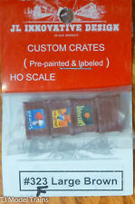JL Innovative Design #323F (HO Scale) Custom Crates Pre-Painted & Labeled