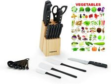 Carbon Stainless Steel Knife Set Pieces Kitchen Sharpening Professional German