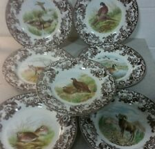 Spode woodland set of 7 dinner plates includes 7 different designs-new