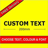 Personalized Custom Text Name Lettering Funny Car Van Window Shop Decal Sticker