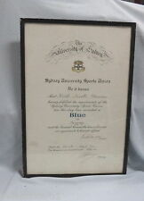 #AA. 1956  SYDNEY  UNIVERSITY  SPORTS  UNION  BOXING  BLUE  CERTIFICATE