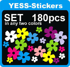 Stickers Flowers Flower 180pcs. in any two colors Self Adhesive any color