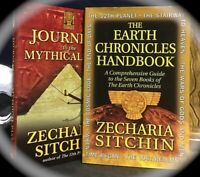ZECHARIA SITCHIN 2 HCS 1) JOURNEYS TO MYTHICAL PAST 2) EARTH CHRONICLES HANDBOOK