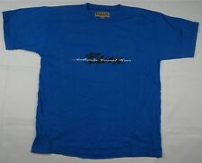 Rare Vintage BUM Equipment Authentic Casual Wear Spell Out T Shirt 90s Blue SZ L