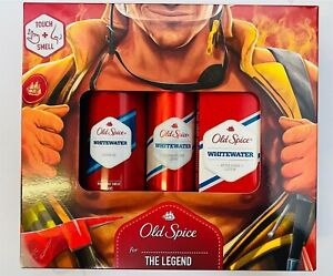 OLD SPICE WHITEWATER GIFT SET X 3 (SHOWER GEL, DEODORANT, AFTESHAVE LOTION)