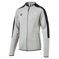 Puma Bmw Motorsport Men's Classic Zip Up Sports Track Jacket Light Gray 57277503