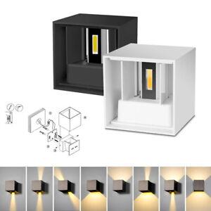 2 COB LED Wandleuchte 6W Wandlampe Flur Strahler Licht Up Down Innen Modern DHL