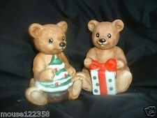 Lot of 2 Homco Bears Home Interiors Bear Figurines