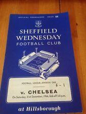 SHEFFIELD WEDNESDAY V CHELSEA - DIV 1 - 31/12/1966
