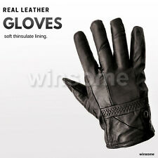 Ladies Real Leather Gloves Thinsulate Soft Fleece Lined Quality Black Winter