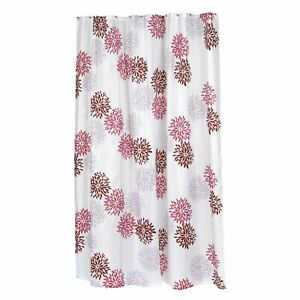 """Carnation Home Extra Long """"Emma"""" Fabric Shower Curtain"""