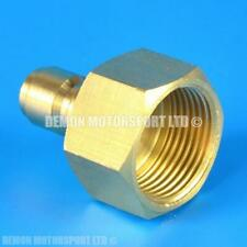 More details for pressure washer jet wash m22 female to 1/4 quick release male brass adapter