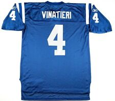 Reebok Mens Adam Vinatieri Indianapolis Colts Football Jersey L Blue NFL