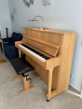 Zimmermann Klavier, helle Buche, wie neu. Made by C. Bechstein, Berlin.