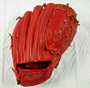 Vintage Rawlings GJ90 Carlos May Red Baseball Glove for Right Hander