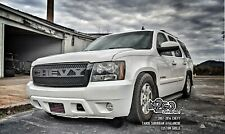 Custom CHEVY Black Metal Grille Grill 2007-14 Tahoe Suburban Avalanche Letters