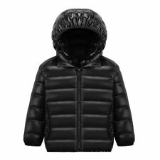 Kids Packable Down Jacket Children Soft Light Warm Coat Short Hooded Outerwear