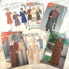 McCalls Vintage Patterns Lot of 6 1980s 90s Dresses Jackets Womens World See Sew