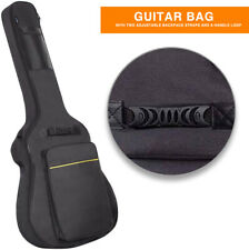 """41""""Guitar Bag Gig Bag Padded Double Straps Backpack Soft Black Case Acoustic"""