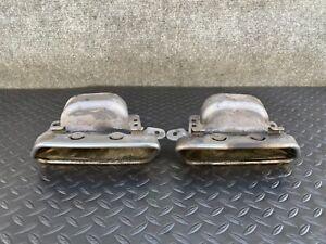 ✔MERCEDES W221 W216 CL550 CL600  S600 S550 REAR MUFFLER EXHAUST PIPE TIP SET OEM