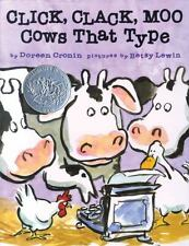 Click, Clack, Moo : Cows That Type by Doreen Cronin (2000, Hardcover)